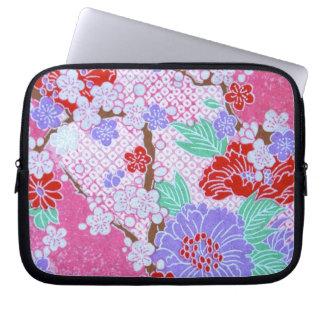 日本のな桜パターンラップトップスリーブ ラップトップスリーブ