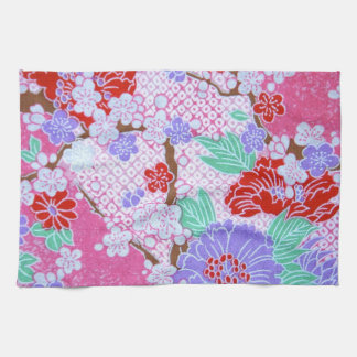 日本のな桜パターン台所タオル キッチンタオル