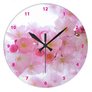 日本のな桜 ラージ壁時計