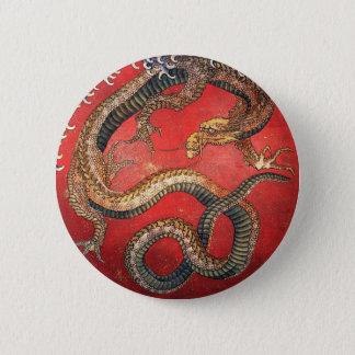 日本のな浮世絵の芸術vol.8、Katsushika Hokusai 5.7cm 丸型バッジ