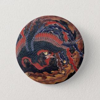 日本のな浮世絵の芸術vol.9、Katsushika Hokusai 5.7cm 丸型バッジ
