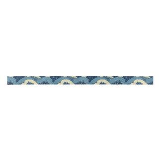 日本のな海の波パターン サテンリボン