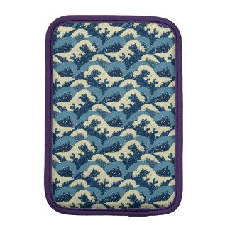 日本のな海の波パターン iPad MINIスリーブ