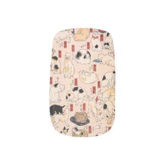 日本のな猫の淡いピンクのネイル ネイルアート
