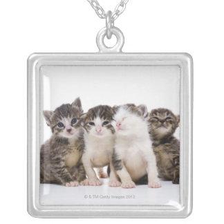 日本のな猫 シルバープレートネックレス