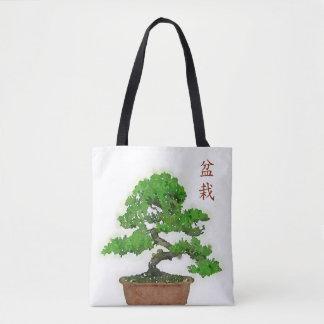 日本のな盆栽の木のトートバック トートバッグ
