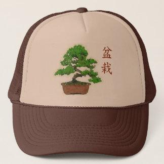 日本のな盆栽の木の夏のトラック運転手の帽子 キャップ