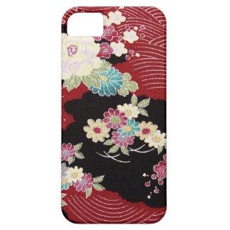 日本のな着物の織物、花パターン Case-Mate iPhone 5 ケース