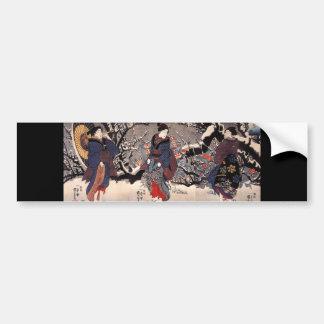 日本のな絵を描くc. 1800's バンパーステッカー