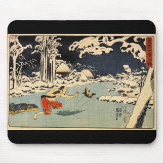 日本のな絵を描くc. 1800's マウスパッド