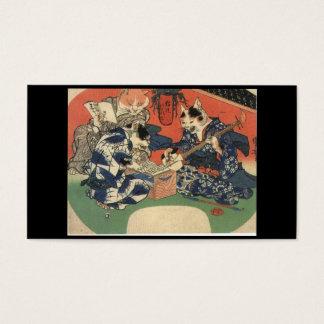 日本のな絵を描くc. 1800's 名刺