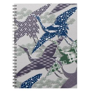 日本のな織物クレーン ノートブック