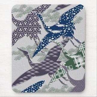 日本のな織物クレーン マウスパッド