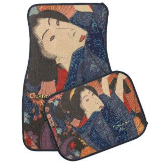 日本のな美しいはカラフルな衣服を乾燥します カーマット