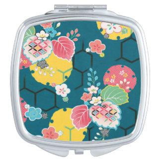 日本のな花の幾何学的なパターン