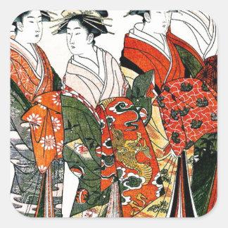 日本のな芸者のヴィンテージの芸術 スクエアシール