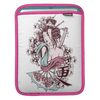 日本のな芸者女の子のiPadの袖 iPadスリーブ