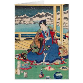 日本のな芸術のカスタムな挨拶状 カード
