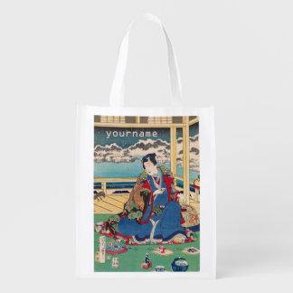 日本のな芸術のカスタムのエコバッグ エコバッグ