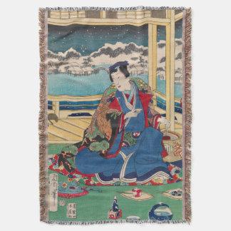 日本のな芸術の投球毛布 スローブランケット