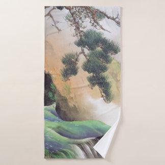 日本のな芸術の浴室タオル バスタオル
