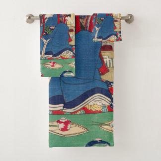 日本のな芸術タオルセット バスタオルセット