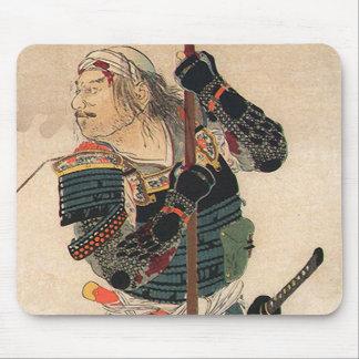 日本のな芸術-完全な戦いの装甲を持つ武士 マウスパッド