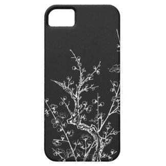 日本のな野生の花は黒いiPhone 5/5Sを逆にしました iPhone SE/5/5s ケース