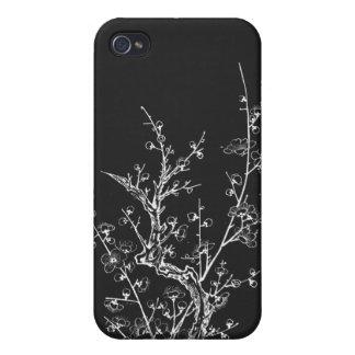 日本のな野生の花は黒を逆にしました iPhone 4/4S ケース