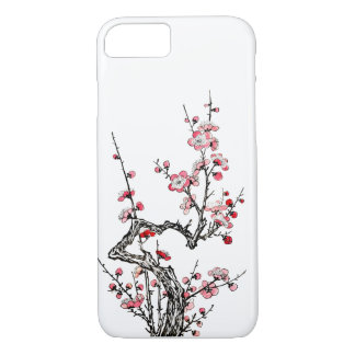 日本のな野生プラム花びらのiPhone 7の場合 iPhone 7ケース