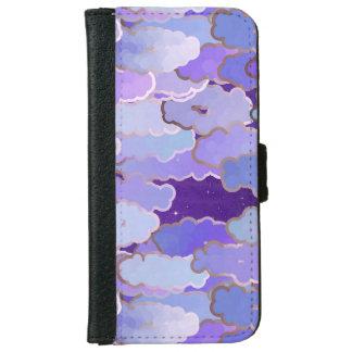 日本のな雲、たそがれ、すみれ色および濃紫色 iPhone 6/6S ウォレットケース