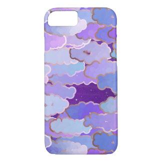 日本のな雲、たそがれ、すみれ色および濃紫色 iPhone 8/7ケース