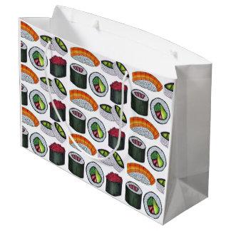 日本のな食糧寿司カリフォルニアマグロのアボカドロール ラージペーパーバッグ