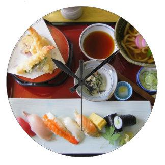 日本のな食糧 ラージ壁時計