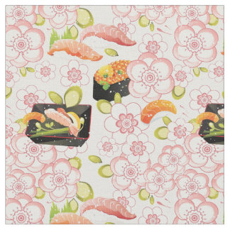 日本のな食糧: 寿司パターン2 ファブリック