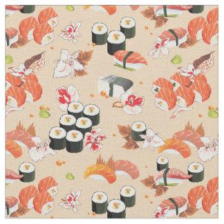 日本のな食糧: 寿司パターン3 ファブリック