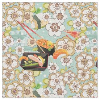 日本のな食糧: 寿司パターン4 ファブリック