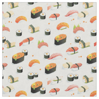 日本のな食糧: 寿司パターン ファブリック