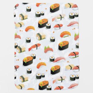 日本のな食糧: 寿司パターン ベビー ブランケット