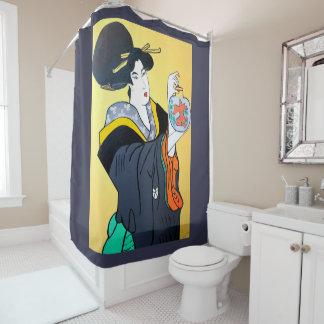 日本のなMINGの屋内トイレ シャワーカーテン