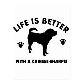 日本のなshar pei犬 ポストカード