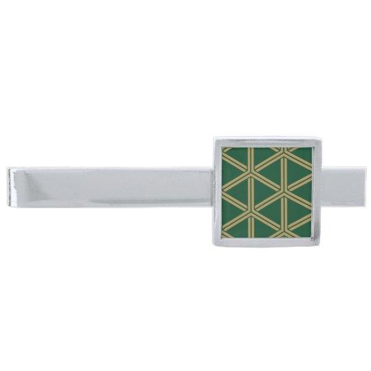 日本の伝統文様 組亀甲(毘沙門亀甲)Japan traditional pattern 銀色 ネクタイピン