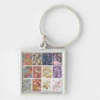 日本の桜、着物、Origami、Chiyogamiの花、 キーホルダー
