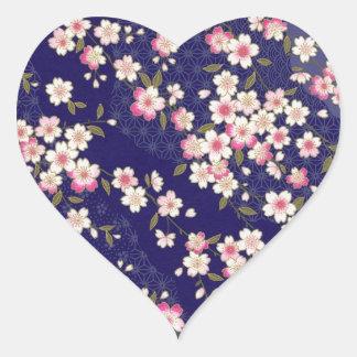 日本の桜、着物、Origami、Chiyogamiの花、 ハートシール