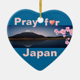日本オーナメントのために祈って下さい セラミックオーナメント