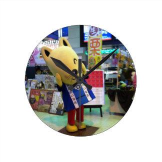 日本キャラクターの時計 ラウンド壁時計