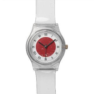 日本グランジな旗 腕時計