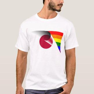 日本ゲイプライド虹の旗 Tシャツ
