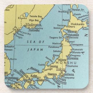 日本コースターのヴィンテージの地図 コースター