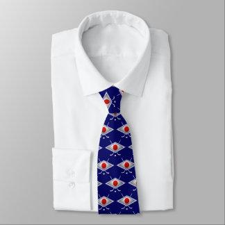 日本ホッケーの旗のロゴのタイ オリジナルネクタイ